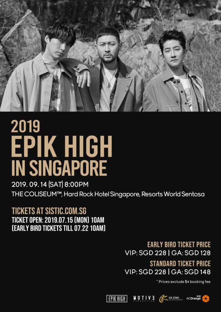 Epik High Singapore Concert 2019